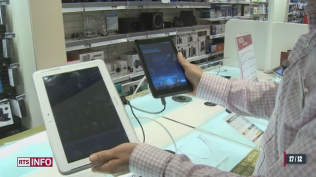 La tablette numérique figure parmi les cadeaux de Noël préférés [RTS]