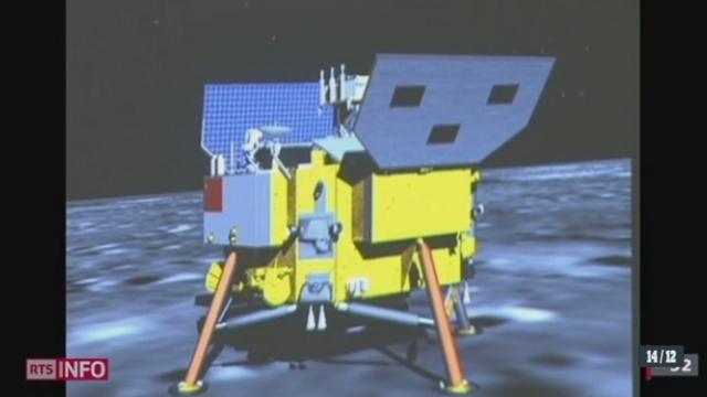 Une sonde spatiale chinoise s'est posée sur la Lune [RTS]