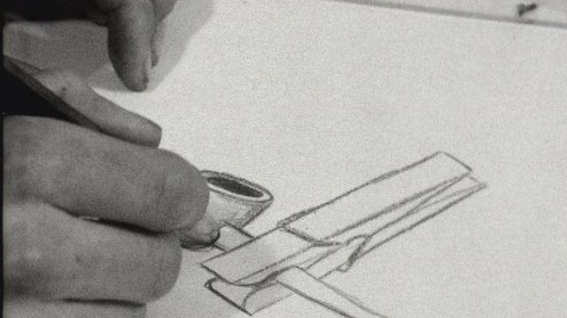 Le métier de graphiste en 1964. [RTS]
