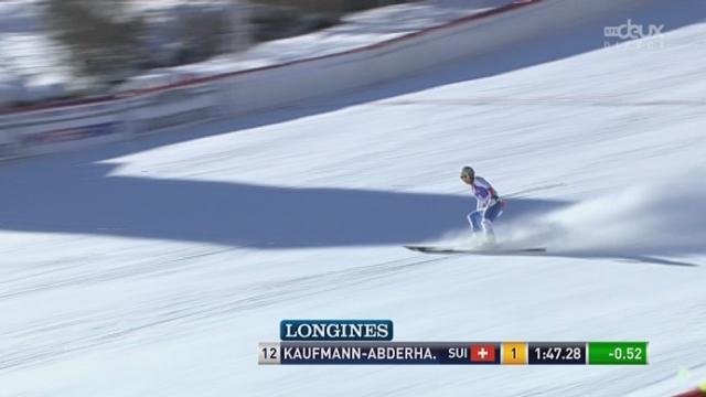 descente dames, Kauffmann-Abderhalden (12) s'installe en tête! [RTS]