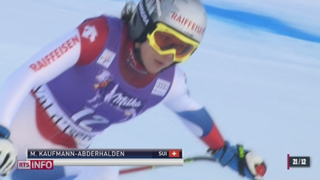 Ski-Coupe du monde: Marianne Kaufmann-Abderhalden crée la surprise à Val d'Isère [RTS]