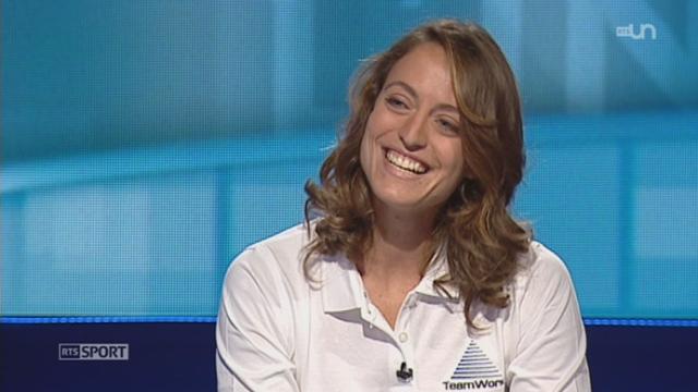 Voile: entretien avec la navigatrice genevoise, Justine Mettraux, deuxième de la Mini transat 2013 [RTS]