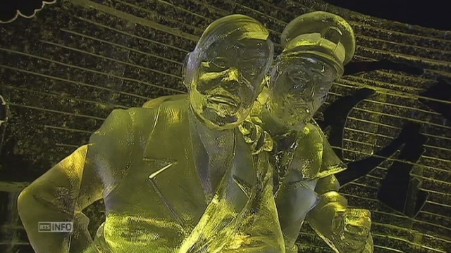 Festival des sculptures de glace à Bruxelles [RTS]
