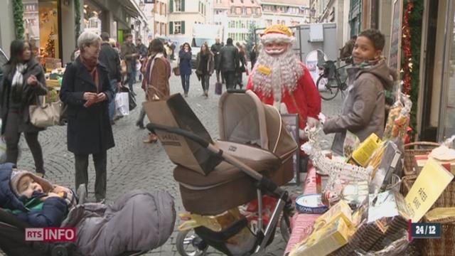 Noël: les cadeaux se vendent jusqu'à la dernière minute [RTS]