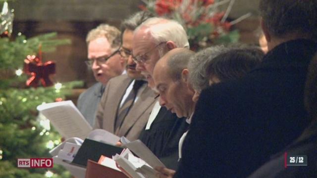 Pour Noël, de nombreux fidèles se sont regroupés dans les lieux de prière en Suisse romande [RTS]