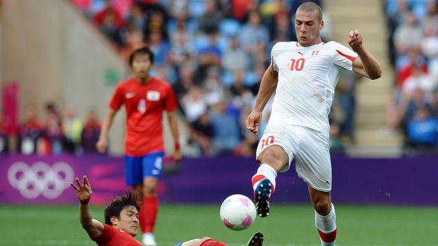 Pajtim Kasami lors des JO 2012 contre la Corée du Sud. [Paul Ellis - AFP]