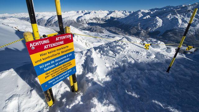 Le danger d'avalanche est très important actuellement dans les Alpes. [Giancarlo Cattaneo - Keystone]