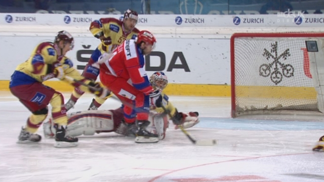 CSKA Moscou - Genève-Servette (1:4):  Saprykin glisse le puck au fond de la cage de Mayer [RTS]