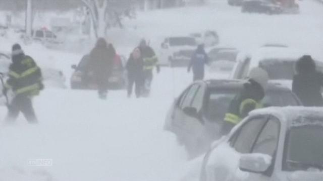 Tempête de neige sur le nord-est des Etats-Unis [RTS]
