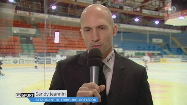 Hockey - LNA (37e j.): entretien avec Sandy Jeannin (attaquant de Fribourg-Gottéron) qui a fait son retour après une commotion [RTS]