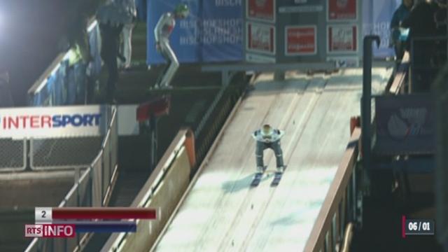 Saut à ski - Tournée des quatre tremplins: Simon Ammann est troisième [RTS]