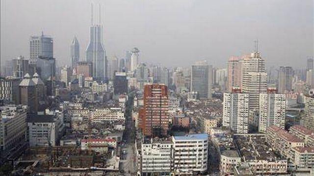 Vue de Shangai, métropole chinoise. [Keystone]