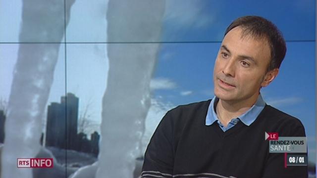 L'invité: le Dr Mauro Oddo, spécialiste de neuroréanimation, nous parle du froid polaire aux États-Unis [RTS]
