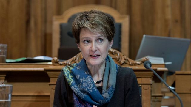 La conseillère fédérale Simonetta Sommaruga. [Lukas Lehmann - Keystone]