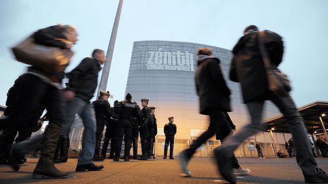 Des échauffourées pourraient avoir lieu devant le Zénith de Nantes. [Jean-Sébastien Evrard - AFP]