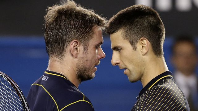 """""""Stan"""" et """"Nole"""" avaient livré un duel épique à Melbourne en 2013. [Andy Wong) - Keystone]"""