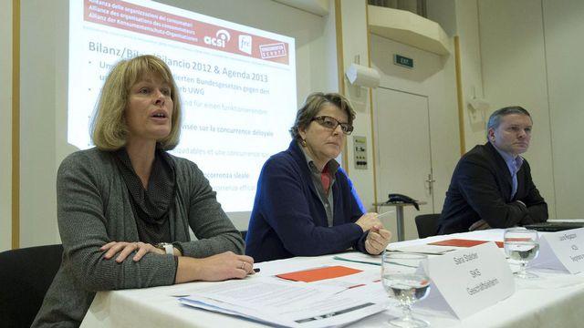 La conférence de presse de l'alliance pour les infrastructures a été perturbée par le Konsumentenforum. [Peter Schneider - Keystone]