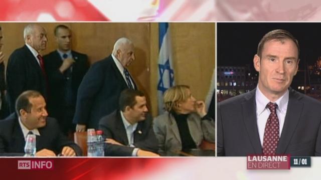 Décès d'Ariel Sharon: les explications de Pascal de Crousaz, chercheur, politologue, spécialiste du Proche-Orient [RTS]