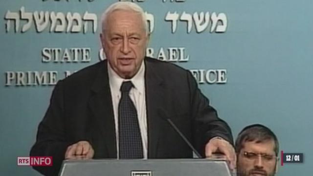 Décès d'Ariel Sharon: le cercueil est exposé devant le parlement israélien [RTS]