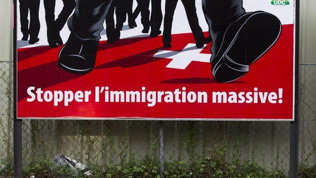 L'incertitude demeure sur le scrutin de l'initiative contre l'immigration de masse. [Salvatore Di Nolfi - Keystone]