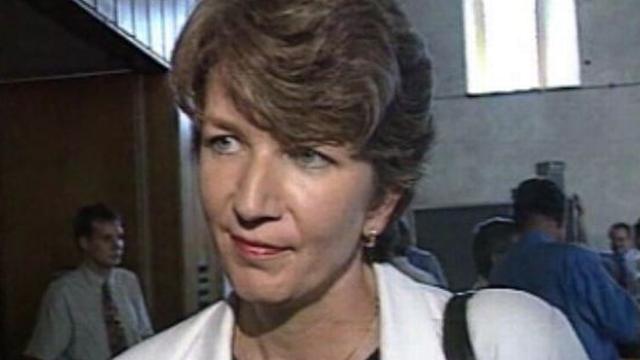 Brigitte Hauser, présidente des femmes PDC, en 1997. [RTS - RTS]