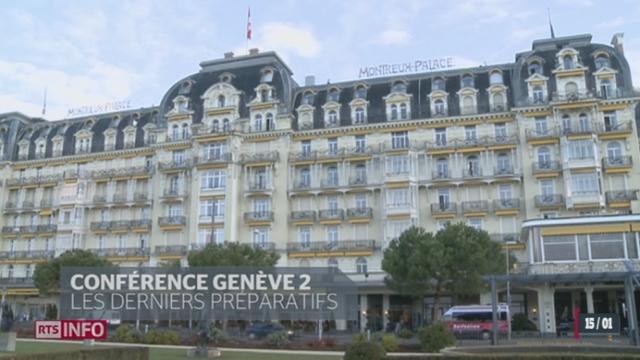 Le Montreux Palace (VD) deviendra le 22 janvier l'épicentre de la diplomatie mondiale [RTS]