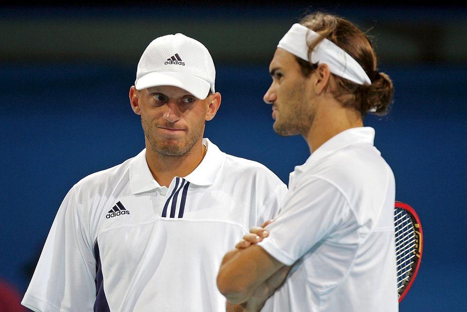 Le Valaisan et le Bâlois avaient disputé les Jeux olympiques d'Athènes en 2004. [Fabrice Coffrini - Keystone]