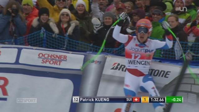 Ski alpin - Wengen: le Suisse Patrick Kueng a gagné la descente [RTS]