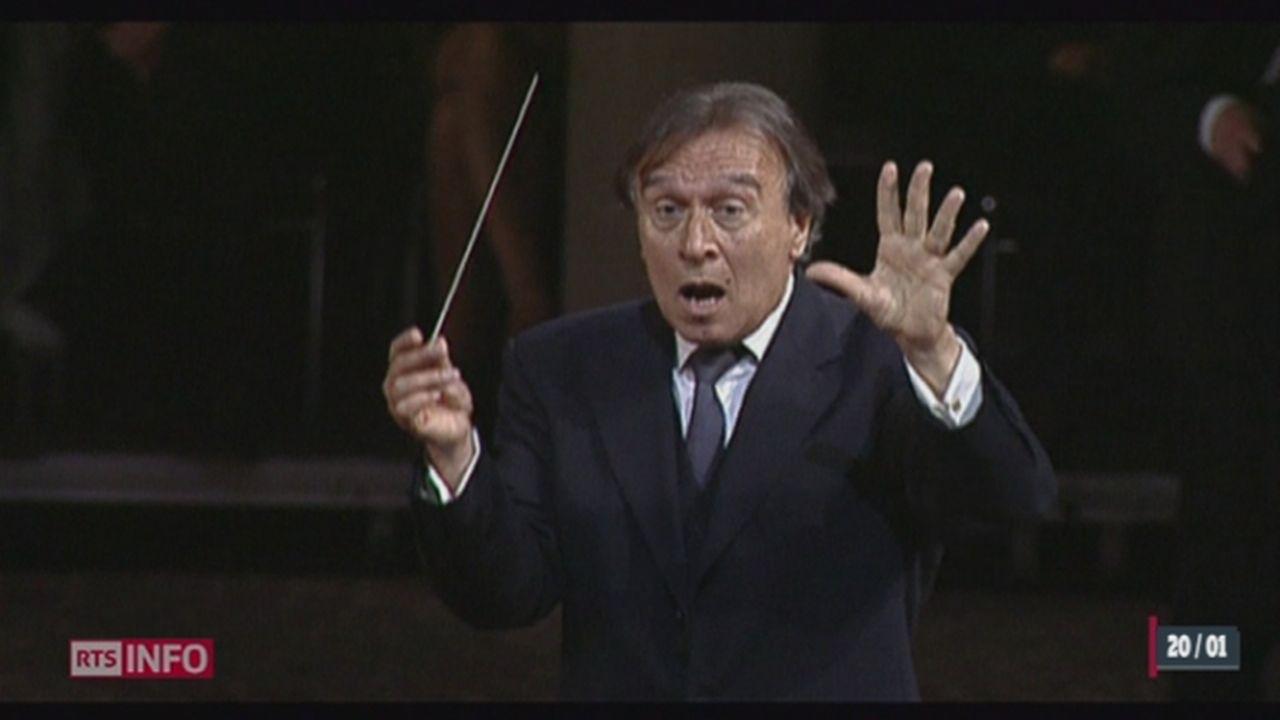 Le chef d'orchestre Claudio Abbado est décédé [RTS]