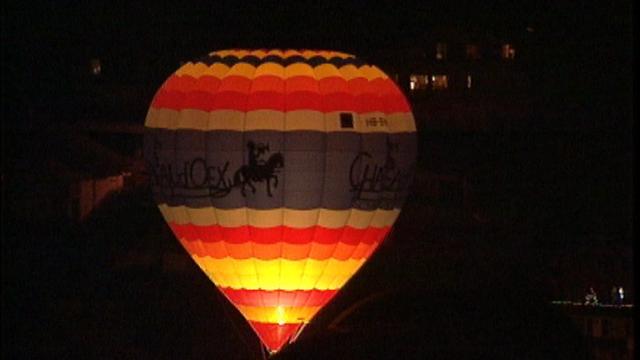 Ballon à Château-d'Oex. [RTS]