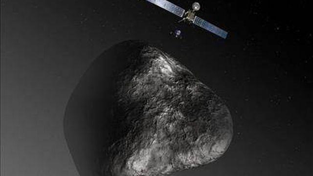 """La sonde Rosetta fait office d'""""archéologue spatiale"""". [ESA]"""