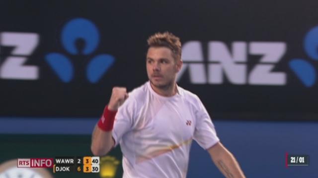 Tennis- Open d'Australie: Stan remporte un duel acharné face à Djokovic en quarts de finale [RTS]