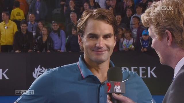 Federer – Murray (6-2, 6-4, 6-7, 6-3): interview de fin de match [RTS]