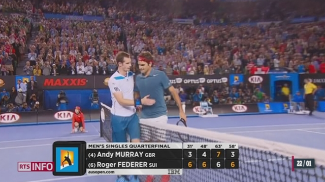 Tennis - Open d'Australie: Roger Federer est en demi-finale [RTS]