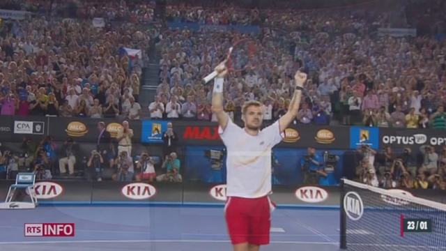Tennis - Open d'Australie: Wawrinka s'est qualifié pour la finale [RTS]