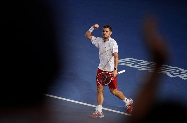 """Finaliste à Melbourne, """"Stan"""" rentre véritablement dans la cour des grands! [Jason Reed - Reuters]"""