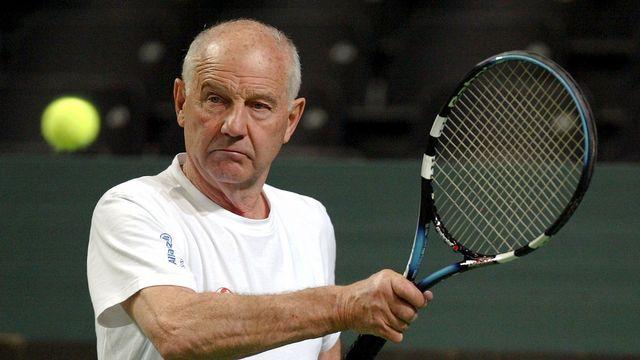 L'ancien entraineur de la sélection helvétique de tennis, Georges Deniau. [Fabrice Coffrini - Keystone]