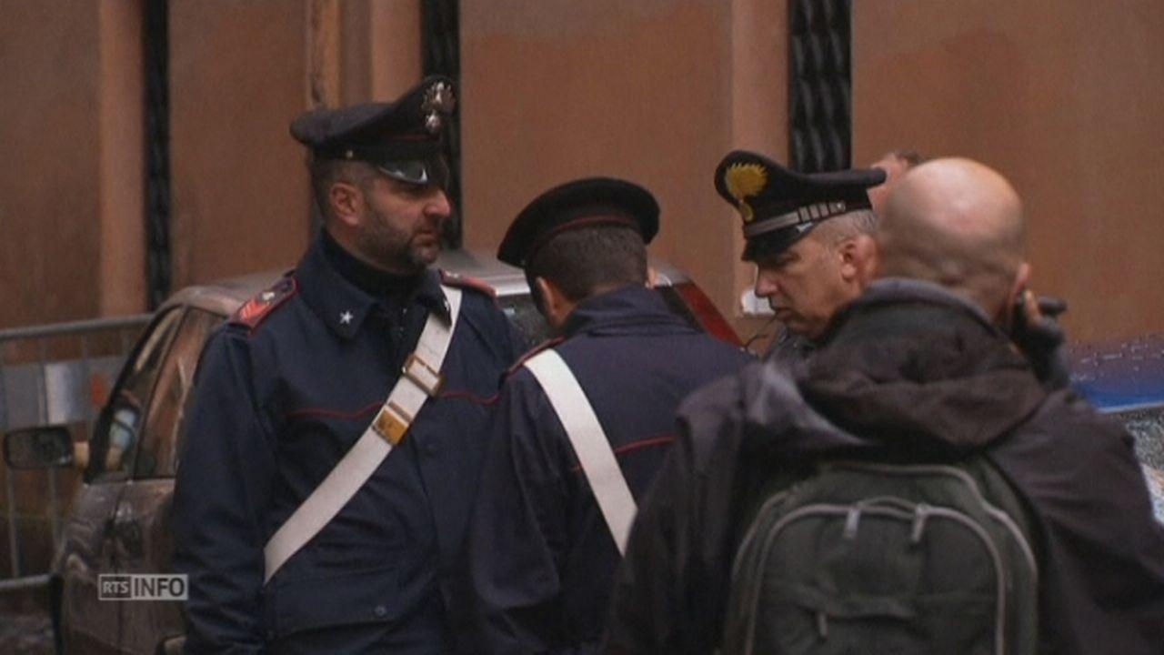 Bombe artisanale devant une église française à Rome [RTS]