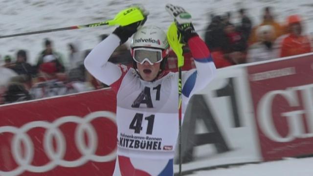 Slalom messieurs, 1re manche: Daniel Yule [RTS]