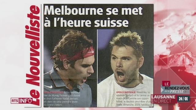 Rendez-vous de la presse: retour sur le fabuleux parcours de Wawrinka et Federer en Australie [RTS]
