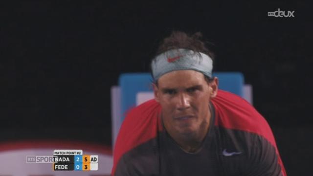 Tennis-Open d'Australie (1-2 finale): Nadal domine Federer en trois manches et défiera Wawrinka en finale [RTS]
