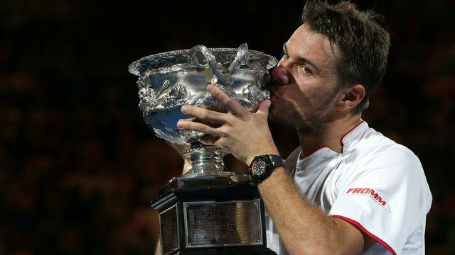 Stanislas Wawrinka succède à Novak Djokovic au palmarès de l'Open d'Australie. [Aaron Favila - Keystone]