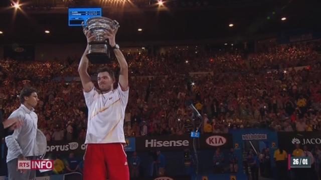 Tennis - Open d'Australie: Wawrinka est champion [RTS]
