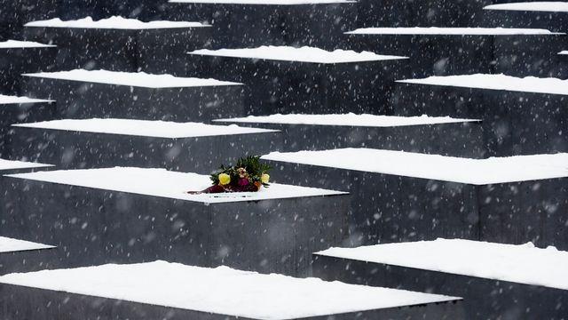 Le camp d'Auschwitz-Birkenau a été libéré le 27 janvier 1945. Ici, le mémorial de l'Holocauste à Berlin, qui commémore les victimes du régime nazi. [Markus Schreiber - AP Photo]