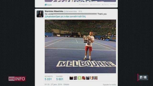 Victoire de Stanislas Wawrinka: le champion a suscité beaucoup de réactions sur Twitter [RTS]
