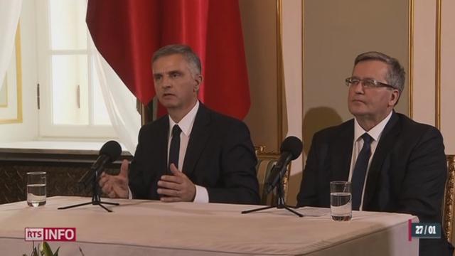Le président de la Confédération commence une visite d'Etat en Pologne [RTS]