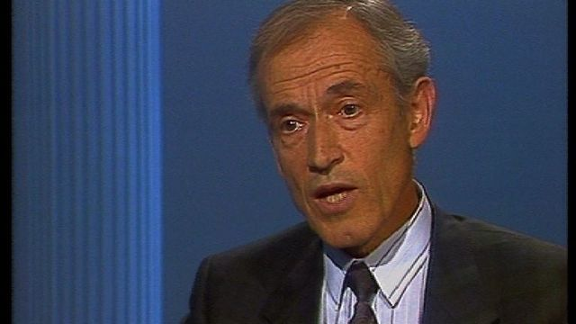 En 1992, Claude Roux, directeur des CFF. [RTS]