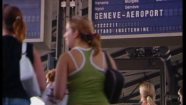 Pannes et retards de trains en juin 2005. [RTS]
