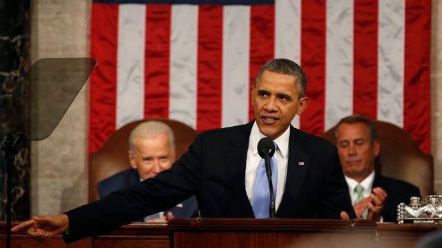 Barack Obama a prévenu le Congrès qu'il pourrait se passer de son accord pour ses réformes sur la réduction des inégalités. [Larry Downing - EPA/Keystone]
