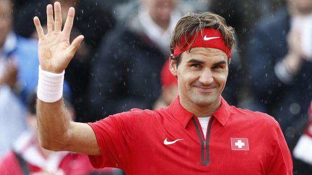 Federer épaulera Wawrinka contre les Serbes. [Vincent Jannink - Keystone]